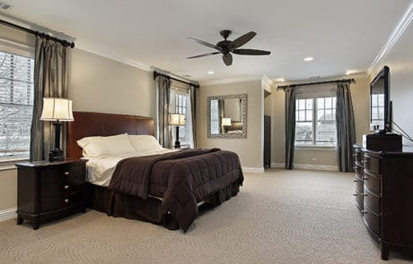 K&K Floor offers carpet installation for bedrooms.